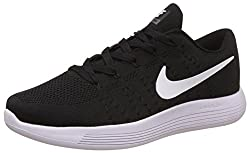 Nike Mens Lunarglide 8 Black Running Shoes - 8.5 UK/India (43 EU)(9.5 US)(843765-100)