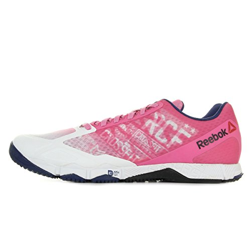 Reebok R Crossfit Speed TR, Zapatillas de Deporte para Mujer, Rosa / Blanco / Azul / Negro (Icono Pink / White / Night Beacon / Black), 36 EU
