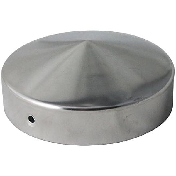 /Ø 101 mm///Ø 121 mm 10 x h2i Runde Pfostenkappen Zaunkappen Abdeckkappen verzinkt Rund Gr/ö/ße /Ø 101 mm