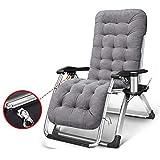 Silla Zero Gravity, Silla Plegable reclinable reclinable de Lectura para Dormitorio, reclinable para Piscina al Aire Libre