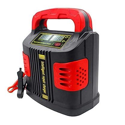 413ddOF4xGL. SS416  - Huihuiya Cargador portátil Inteligente Coche del vehículo Vehículo de Motor 350W 14A Ajuste del Coche LCD Cargador de batería Coche Salto Arrancador Booster-Rojo y Negro