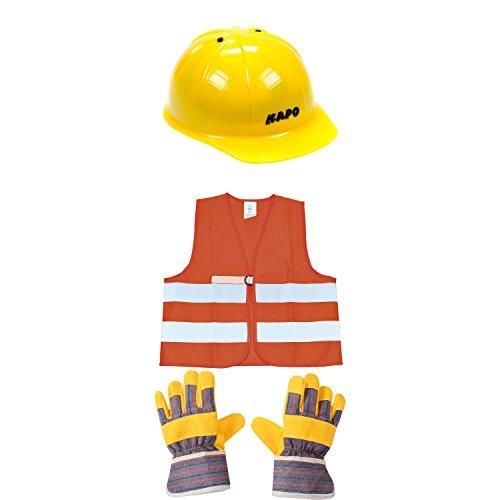 rnweste & Handschuhe für Kinder, gelb/orange (1 Set, 4-teilig) (Kind Orange Handschuhe)