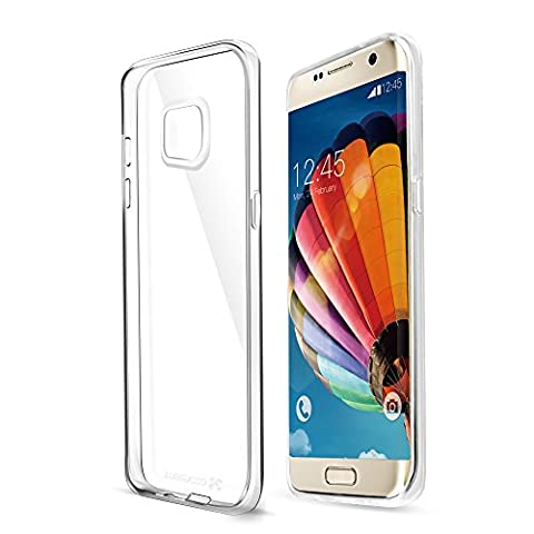Coque Samsung Galaxy S6 edge,Coolreall TPU Silicone Clair Transparente Souple Protection Housse Etui Coque Bumper pour Samsung Galaxy S6 edge [Anti Scratch/Absorption de Choc]
