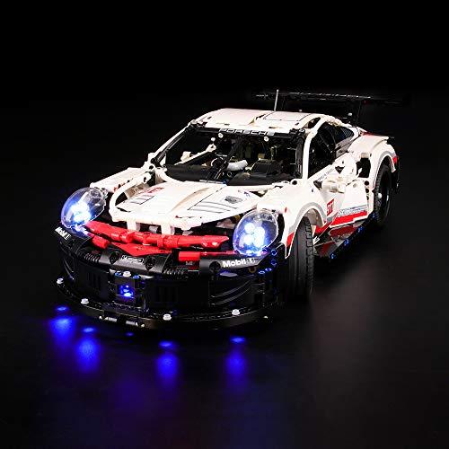 LIGHTAILING Conjunto de Luces (Technic Porsche 911 RSR) Modelo de Construcción de Bloques - Kit de luz LED Compatible con Lego 42096 (NO Incluido en el Modelo)