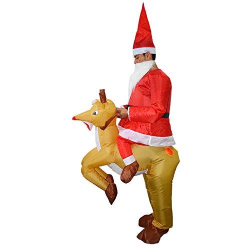 bare Kostüm Und Cosplay Kostüm Anzüge Blow Up Kostüm Für Halloween Weihnachten Weihnachten Elch Cosplay Dress Up ()