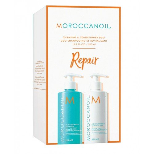 Moroccan Oil Repair Shampoo And Conditioner Duo 500ml Boxed Gift Set