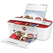 HP Deskjet 3732 AiO - Impresora multifunción (Wi-Fi, USB 2.0, 600 x 600 DPI, con 3 meses de HP Instant Ink , A4, ADF 216 x 355 mm), color rojo