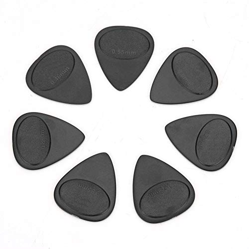 Gitarre Plektrum, 10 Stücke ABS Gitarren Plektren Picks Musikinstrument Zubehör (0,46 mm-1 mm Dicke)(Schwarz)