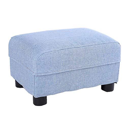 TTZ Kleiner Sitzplatz-Sofa-Stuhl-Stuhl-Fußbank-Änderungs-Schuh-Hocker Abnehmbares Leinen Mehrfarben optionales Wohnzimmer/Kindergarten/Kinderzimmer (Color : Blue) - Perfekte Stuhl Square Stuhl