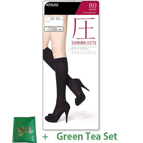Atsugi Astigu Leg Tights Atsu Tighten 80 Denier 22cm - 25cm - 357 Skinny Beige (Green Tea Set) - Skinny Leg Tight