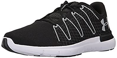 Under Armour Men's Black/White/Overcast Grey Running Shoes - 10 UK/India (45 EU) (1295736)