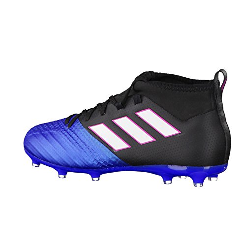 adidas Unisex-Kinder Ace 17.1 Fg J für Fußballtrainingsschuhe Schwarz (Negbas/ftwbla/azul)