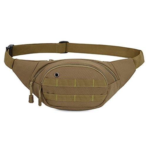 Fdf marsupio multifunzionale outdoor sport borse da donna per uomo alpinismo running phone bag (dimensioni: 18 * 8 * 14cm) (colore : khaki digital)