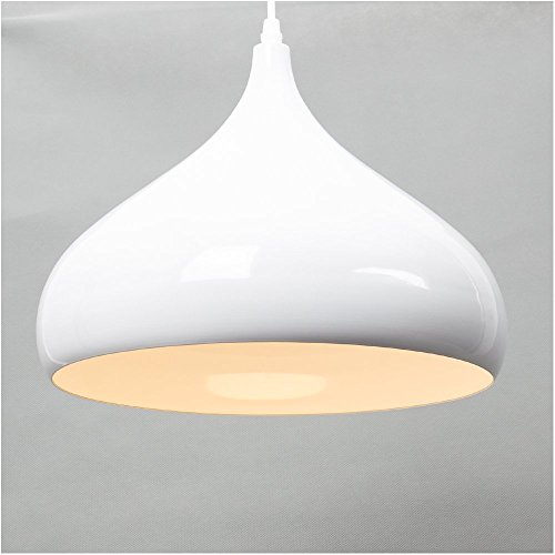 E27 Métal Moderne Suspensions Luminaire Moderne Plafonnier Luminaire Moderne Suspensions Ombre Edison Culot de Ampoule E27 Eclairages Blanc Vernis Shade Métal Luminaire