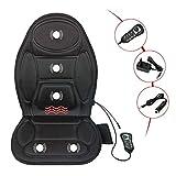 GKPLY Rücken Massage Sitzkissen Motor Vibration Massage Pad mit Wärme, Ganzkörper-Massager Für Home-Office-Auto-Nutzung