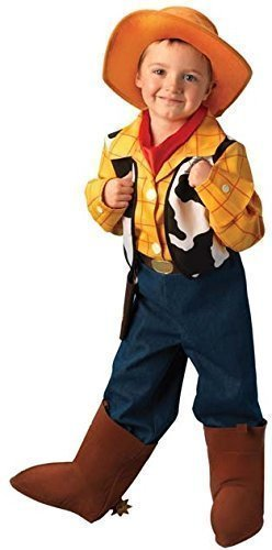 7 tlg. Platinum Deluxe Child's Jungen Disney Toy Story Cowboy Woody Book Tag Halloween Kostüm Outfit 5-6 (Kostüme Woody Deluxe)