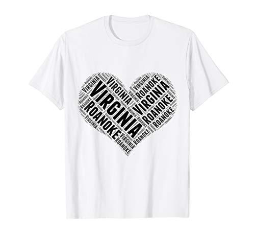 State Heart VIRGINIA Tshirt ROANOKE Home Tee