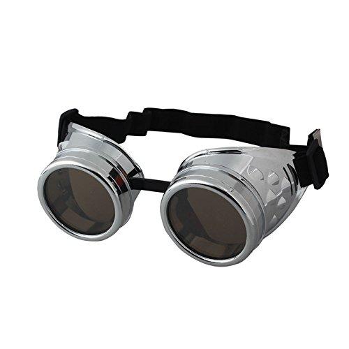 Hniunew Junge, MäDchen, Baby Kaleidoskop Vintage Retro Mode Katzenauge Brille Steampunk Brille SchweißEn Punk Gothic Brille Cosplay 80Er Jahre Pilotenbrille Brillen Schutzbrille Im Spitze