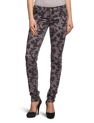 Only Pantaloni skinny fit con stampa Donna Grigio (Smoked Pearl)