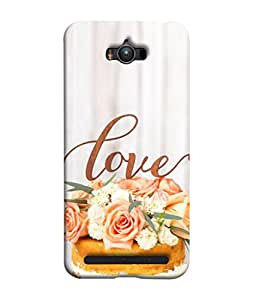 PrintVisa Designer Back Case Cover for Asus Zenfone Max ZC550KL :: Asus Zenfone Max ZC550KL 2016 :: Asus Zenfone Max ZC550KL 6A076IN (yummy delicious Creamy Love cake for you)