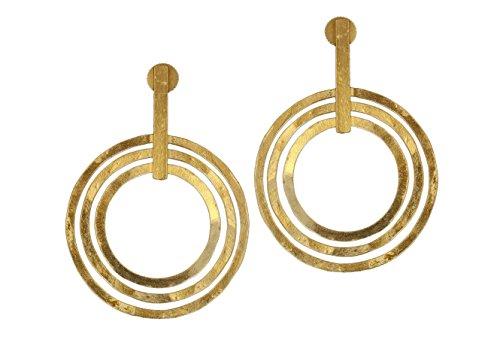 Runde Gold Disc Ohrringe (Gold Disc Baumeln Ohrringe)