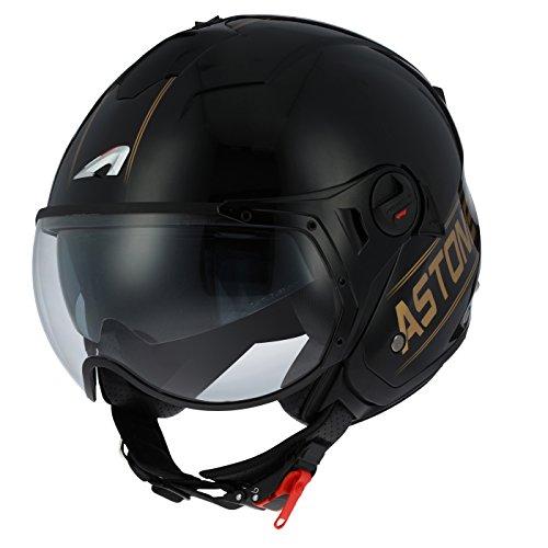 Astone Helmets minisportg-bgom casco Moto Minijet Sport Cooper, Negro/