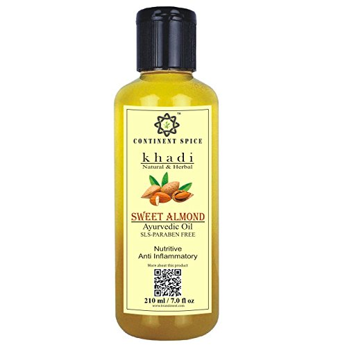 Continent Spice Khadi Sweet Almond Oil 210 ml- CS682005 [ BADAM OIL ]