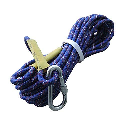Corde d'escalade Corde d'escalade, corde d'escalade extérieure résistante à l'usure, équipement de corde d'assurance Corde d'assurance de corde de sécurité corde de travail aérien de corde en plein ai