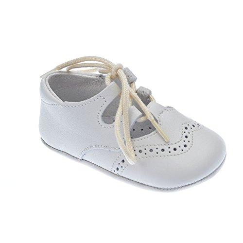 Indice  Zapato inglesito mod1348, Baby Jungen Krabbelschuhe & Puschen weiß weiß 16, weiß - beige - Größe: 18 (Cordones Para Zapatos)
