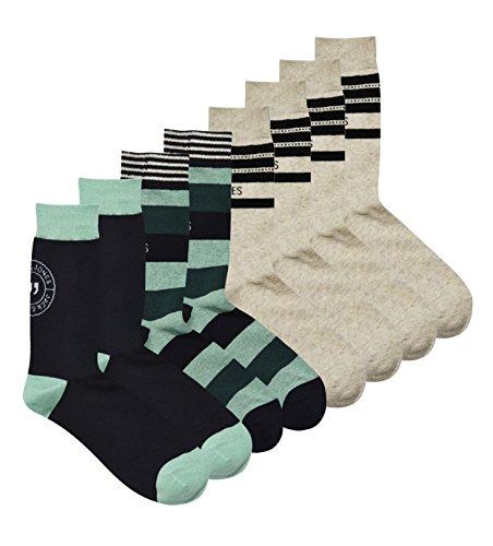 JACK & JONES 8er Pack Herren Freizeitsocken jjacEXTRA Socken Socks Elasthan (Einheitsgröße / One Size, 8er Pack - Mehrfarbig)