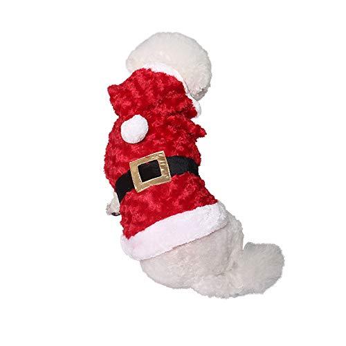 PET Pet Party Supplies Makeover Kleidung Red Dog Cat feiert Santa Dress Up Costume Pet Kleidung für kleine Hunde (Farbe : Rot, größe : XL) (Größe Santa Anzug Plus)