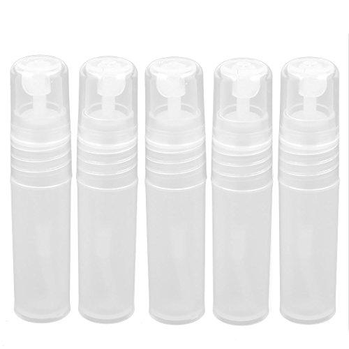 sourcingmap Plastique Eau Bouteille Pulvérisateur Parfum Porte Conteneur 3ml 4pcs Transparent