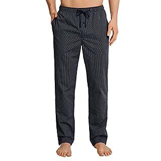 Schiesser Herren Mix and Relax Hose Lang Schlafanzughose, Blau (Dunkelblau 803), Large (Herstellergröße: 052)