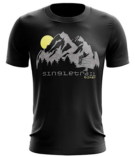 Stylotex Fitness T-Shirt Herren Sport Shirt Single Trail Gym Tshirts für Performance beim Training | Männer Kurzarm | Funktionelle Sport Bekleidung, Größe:S, Farbe:schwarz