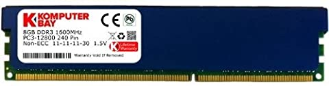 Komputerbay 8GB DDR3 PC3-12800 1600MHz DIMM with Blue Low Profile