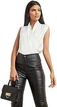 Satin Wrap Neckline Cami Top For Women Closet by Styli