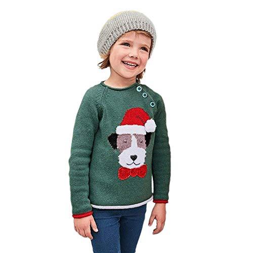 sunnymi 1-5 Jahre Baby Jungen Mädchen Button-up Baumwolle Mantel Weihnachten Pullove Pullover