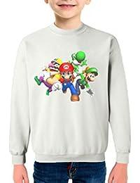 Tu la pintas Super Mario Infantil Sudadera Algodón Color Blanco 5bf2828bfaf