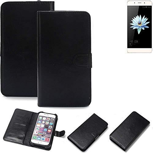 K-S-Trade® 360° Wallet Case Handyhülle Für Hisense C1 Schutz Hülle Smartphone Flip Cover Flipstyle Tasche Schutzhülle Flipcover Slim Bumper Schwarz, 1x