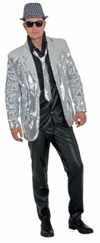 Herren Pailletten Jacke Kostüm - Kostüm Pailletten Jacke Herren Show Jackett,