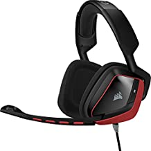 Corsair - Auriculares analógicos cómodos de gaming (para PC, PS4, Xbox, USB, Dolby 7.1, 3,5 mm), rojo (CA-9011144-EU)