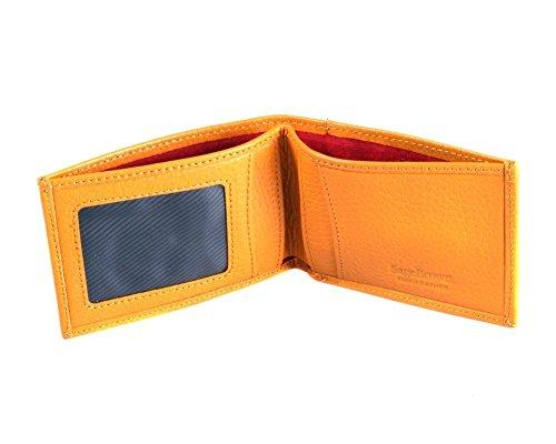 sagebrown-yellow-travel-card-billfold-wallet