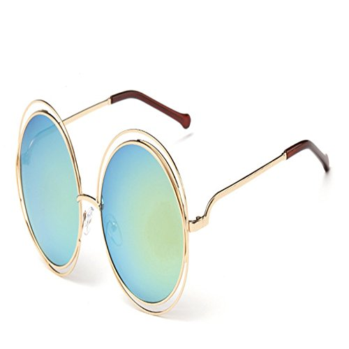 O-C Damen Sonnenbrille Silber gold frame,yellow silver lens