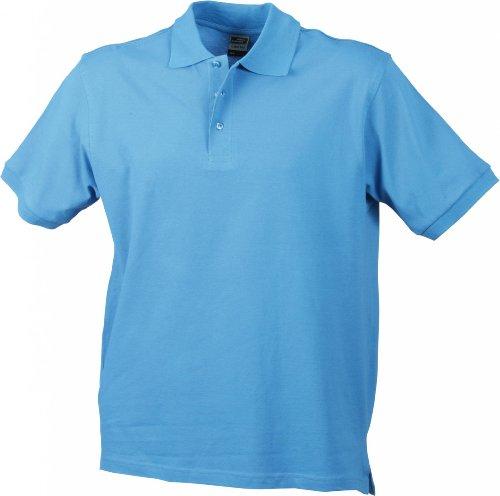 Hochwertiges Polohemd mit Armbündchen Sky Blue
