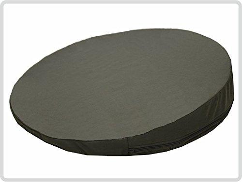 Orthopädisches Keilkissen, RUND Ø 36 cm, 100 % Baumwollbezug! - Farbe: grau - Kissen Sitzkissen Sitzkeilkissen Sitzkissen Sitzkeil *Top-Qualität zum Top-Preis* - Runde 36