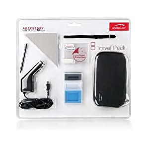 Speedlink Travel-Pack für Nintendo DS Lite (Transporttasche, KFZ-Ladegerät, Displayfolie, Spielehüllen uvm.) schwarz