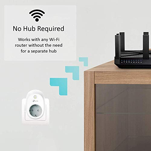 TP- Link HS100 -  Enchufe inteligente para controlar sus dispositivos desde cualquier lugar,  sin necesidad de concentrador,  funciona con Amazon Alexa y Google Home e IFTTT