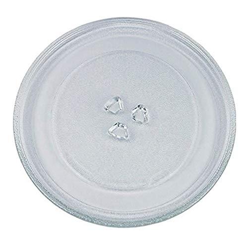 VIOKS Mikrowellenteller Drehteller Teller Glasteller für Mikrowelle Ofen Durchmesser: 25,5 cm 255 mm 3 Noppen