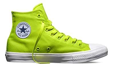 Converse - Chuck Taylor All Star II Neon, Scarpe da Ginnastica Alte Unisex - Adulto, Verde (Grün (Volt/Green/White)), 36 EU