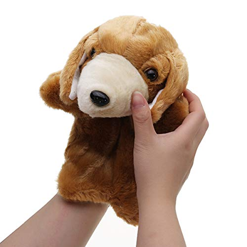 EEvER Funny Toy Personalized Dog Hand Puppet, 27 CM Stuffed Dog Stuffed Fairy Tale Hand Puppet Classic Figures Stuffed Animal Toys (Color: 3)